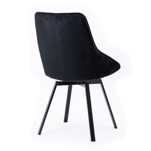 eetkamerstoel Beau - zwart achterkant