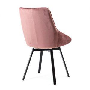 eetkamerstoel Beau - oud roze achterkant