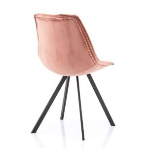 eetkamerstoel Belle - oud roze achterkant