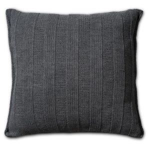 Knit Factory 6x6 Rib - Antraciet achterkant