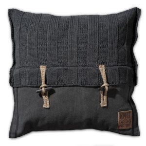 Knit Factory 6x6 Rib - Antraciet