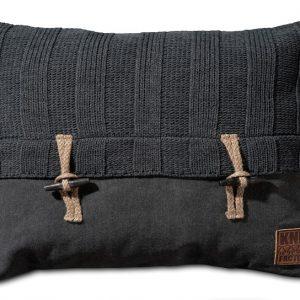Knit Factory 6x6 Rib - Antraciet 60x40