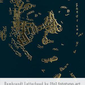 Letterheads Rembrandt type 1