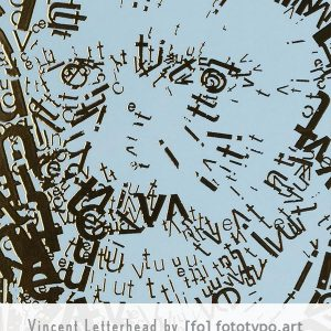 Letterheads Vincent van Gogh type 1